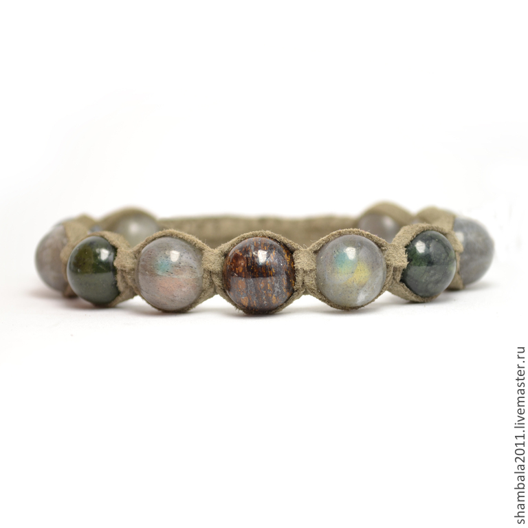 Shamballa bracelet with labradorite, jade and Bronzit suede. Talisman. Amulet. Charms. The bracelet on the arm. Bracelets. Bracelet with stones. bracelet with stones. Shambhala. A gift for the New yea