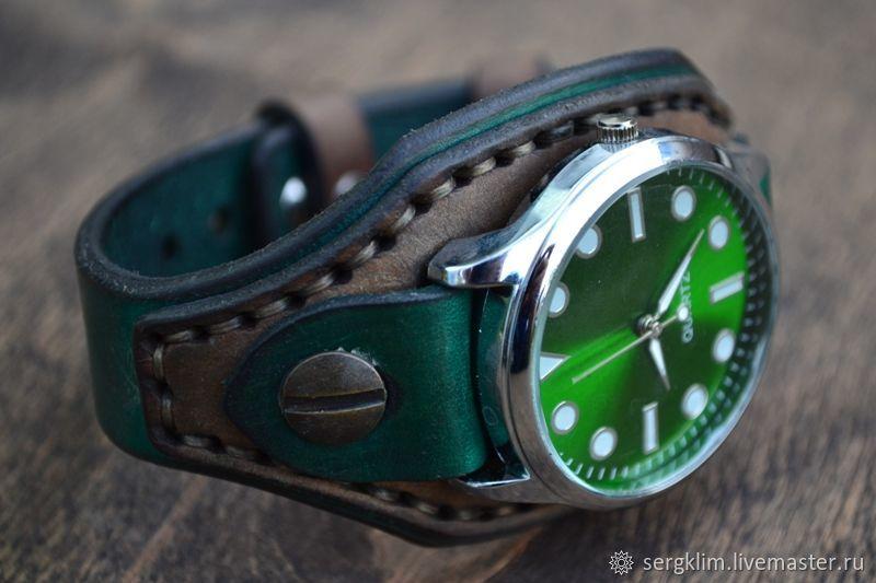 Ремешок №7 для часов из натуральной шорно седельной кожи, Ремешок для часов, Уфа,  Фото №1