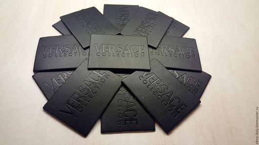 Аппликации, вставки, отделка ручной работы. Ярмарка Мастеров - ручная работа. Купить Нашивка «Versace». Handmade. Черный, бирка, лейблы