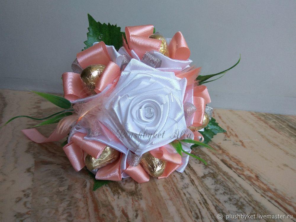 Мини-букет из конфет розовый, Букеты, Москва,  Фото №1