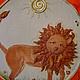 Символизм ручной работы. Ярмарка Мастеров - ручная работа. Купить панно Лев Керамика. Handmade. Керамика, панно, красно-оранжевый