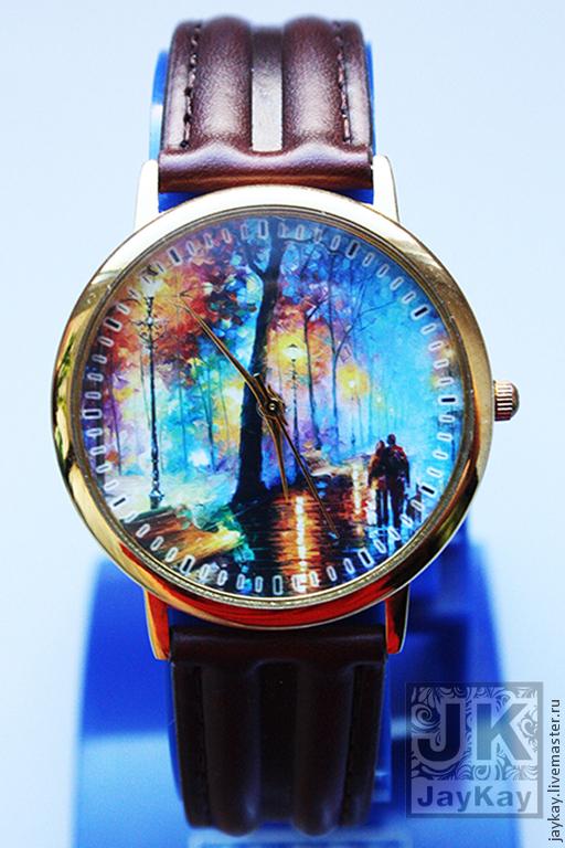"Часы ручной работы. Ярмарка Мастеров - ручная работа. Купить Часы наручные JK ""Парк"". Handmade. Часы"