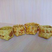 In the Russian style handmade. Livemaster - original item Salt shaker from birch bark in a large assortment. Handmade.
