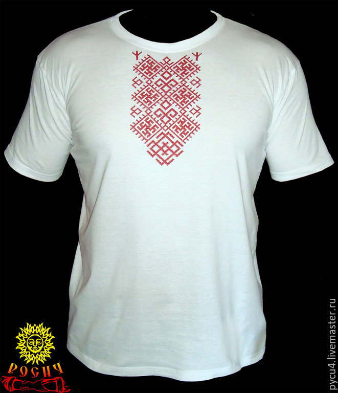 T Shirt With Embroidery Belobog Shop Online On Livemaster With