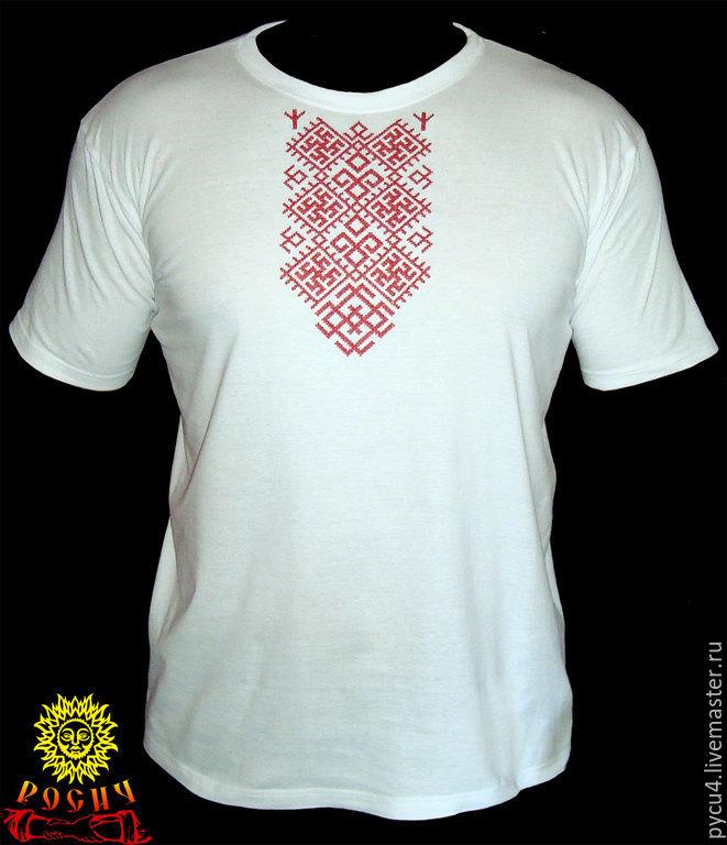 Славянское вышивка на футболке