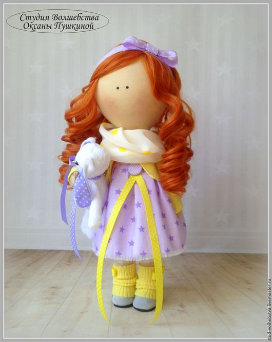 Интерьерная куколка ручной работы Студия Волшебства Оксаны Пушкиной