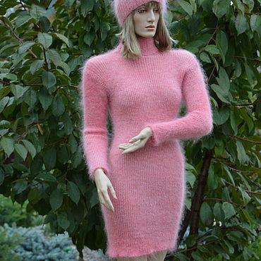 """Одежда ручной работы. Ярмарка Мастеров - ручная работа Платье """"Фламинго"""" вязаное женское. Handmade."""