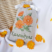 Для дома и интерьера handmade. Livemaster - original item Pouch with embroidery of