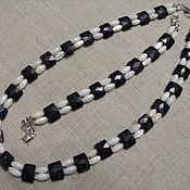 Украшения handmade. Livemaster - original item set necklace bracelet white mother of pearl keys, blue aventurine music. Handmade.