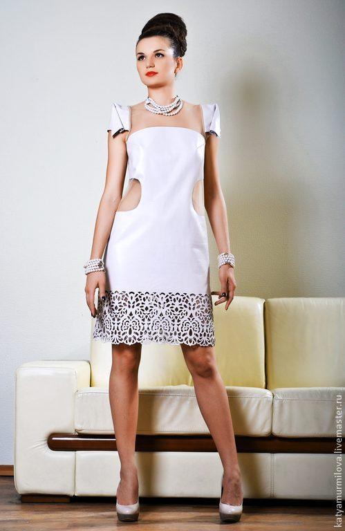 Платья из натуральной кожи фото