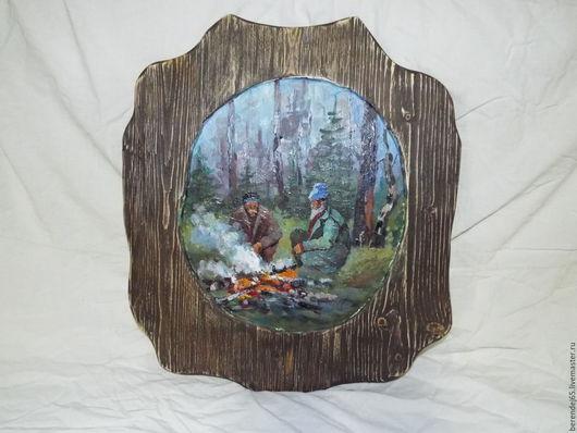 Пейзаж ручной работы. Ярмарка Мастеров - ручная работа. Купить картина маслом. Handmade. Комбинированный, картина для интерьера, картина в подарок