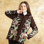 Одежда ручной работы. Ярмарка Мастеров - ручная работа Куртка теплая Мятный шоколад. Handmade.