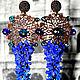Серьги `Синева` стоимость 1400 рублей Длина 12 см