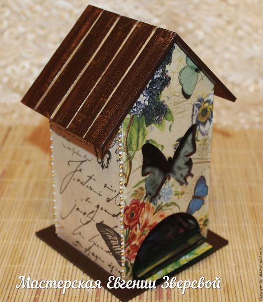 Кухня ручной работы. Ярмарка Мастеров - ручная работа. Купить Чайный домик Французские бабочки. Handmade. Коричневый, бабочки