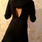 Одежда ручной работы. Ярмарка Мастеров - ручная работа Вязаное платье с вырезом. Handmade.