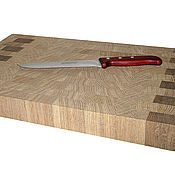 Для дома и интерьера ручной работы. Ярмарка Мастеров - ручная работа Разделочная доска для кухни торцевая 450х300х50мм. Handmade.