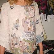 Одежда ручной работы. Ярмарка Мастеров - ручная работа Блузка Старая фреска. Handmade.