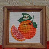Картины и панно ручной работы. Ярмарка Мастеров - ручная работа Солнечный апельсин. Handmade.