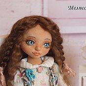 Куклы и игрушки ручной работы. Ярмарка Мастеров - ручная работа Мелисса текстильная шарнирная кукла. Handmade.