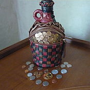 Для дома и интерьера ручной работы. Ярмарка Мастеров - ручная работа Декор бутылок (кожей,лентами, тканью...). Handmade.