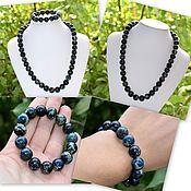 Украшения handmade. Livemaster - original item Beads and bracelet made of natural blue variscite. Handmade.