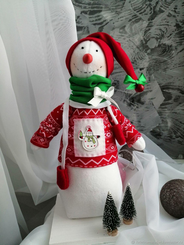 Снеговик, Декор в стиле Тильда, Кандалакша,  Фото №1