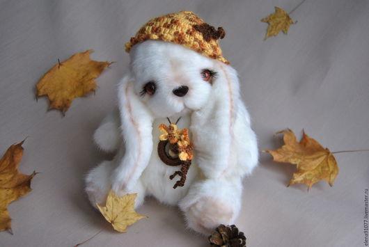 Мишки Тедди ручной работы. Ярмарка Мастеров - ручная работа. Купить тедди зайка Осень. Handmade. Тедди зайка, осень