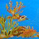 Order silk pareo batik Sea. elena-krylova. Livemaster. . Pareos Фото №3