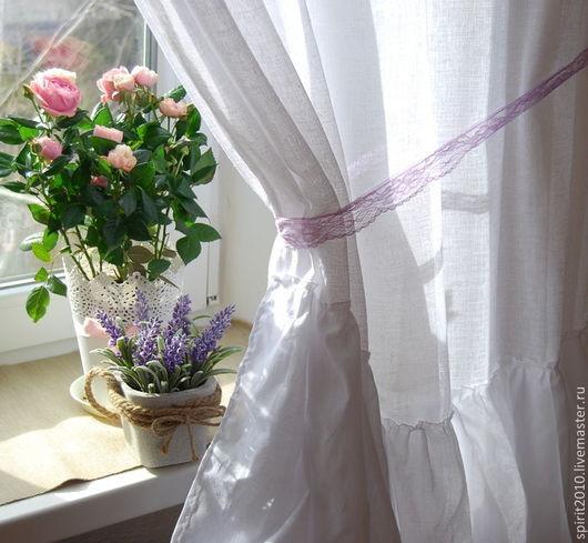 Текстиль, ковры ручной работы. Ярмарка Мастеров - ручная работа. Купить Занавес с оборками в стиле шебби-шик. Handmade. Белый