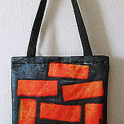 Сумки и аксессуары handmade. Livemaster - original item Bag of bricks. Handmade.