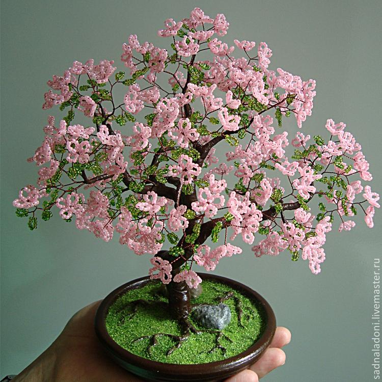 Купить цветы и деревья из бисера свадебные букеты заказать в минске