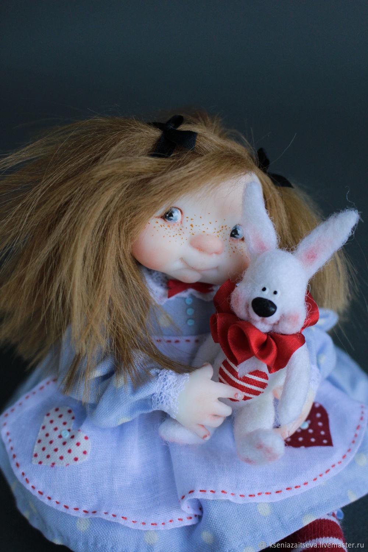 """Коллекционные куклы ручной работы. Ярмарка Мастеров - ручная работа. Купить """"Alice"""". Handmade. Кролик, алиса, alice, фимо"""