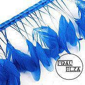 Перья петуха на ножках Бирюзово-синие