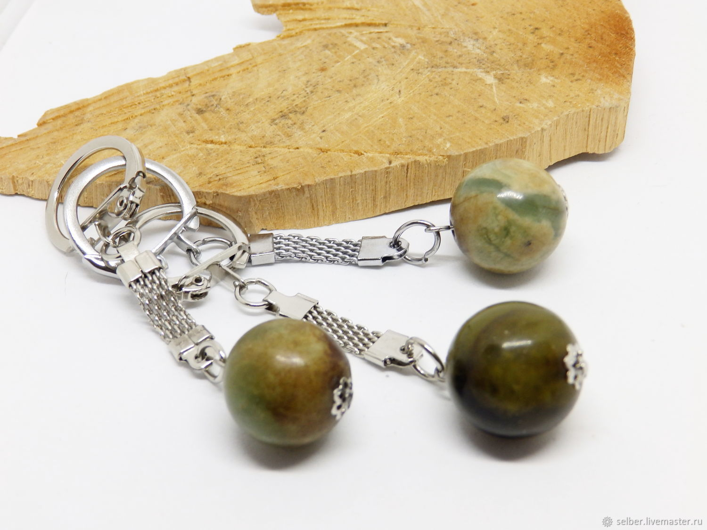 Keychain with jade, Key chain, Gatchina,  Фото №1