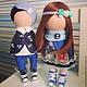 Куклы тыквоголовки ручной работы. Ярмарка Мастеров - ручная работа. Купить Текстильные куколки. Handmade. Текстильная кукла, кукла, хлопок