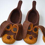 """Обувь ручной работы. Ярмарка Мастеров - ручная работа тапочки """" верные друзья"""". Handmade."""
