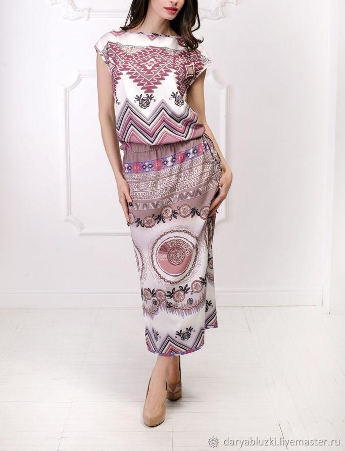 45328c45364 Платья ручной работы. Ярмарка Мастеров - ручная работа. Купить Летнее шелковое  платье  Африка ...