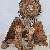 """Для дома и интерьера ручной работы. Ярмарка Мастеров - ручная работа шаманы """"Приветствие солнцу"""" Интерьерная композиция. Handmade."""