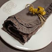 Для дома и интерьера handmade. Livemaster - original item Napkin: linen napkins Molinia color latte. Handmade.