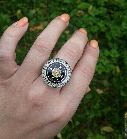 """Кольца ручной работы. Ярмарка Мастеров - ручная работа. Купить Стимпанк кольцо """"Marine"""" (steampunk). Handmade. Стимпанк, steampunk, морской"""