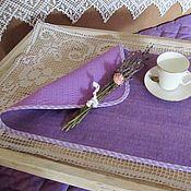 Для дома и интерьера ручной работы. Ярмарка Мастеров - ручная работа 4 ланчмата цвета лаванды. Handmade.
