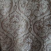 Ткани ручной работы. Ярмарка Мастеров - ручная работа Ткань портьерная Дамаск Беж. Handmade.