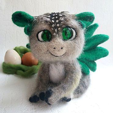 Куклы и игрушки ручной работы. Ярмарка Мастеров - ручная работа Дракон, дракончик, сказочный лесной зверь, из шерсти. Handmade.
