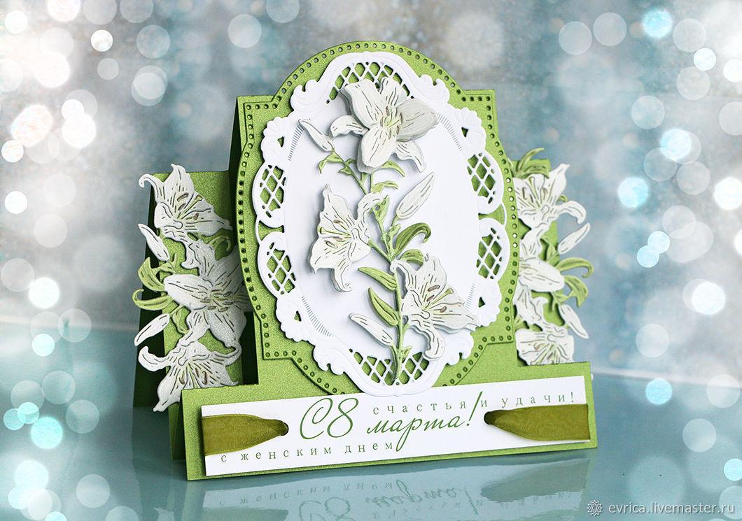 Прикольные, скрапбукинг открытки с лилиями