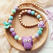 Одежда handmade. Livemaster - original item Slingobusy mint-lavender with owl. Handmade.