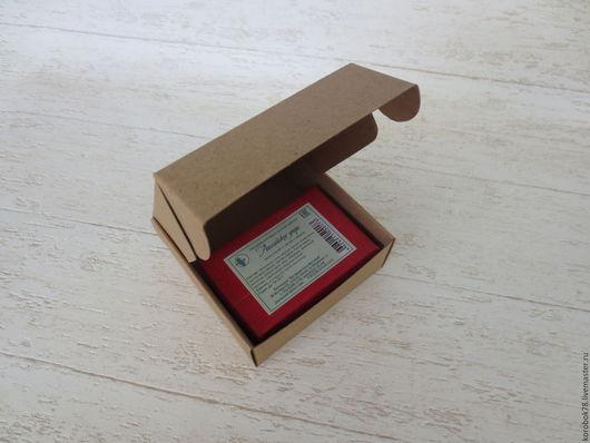 Подарочная упаковка ручной работы. Ярмарка Мастеров - ручная работа. Купить Коробка 95x95x35 самосборная, крафт-бумага, коричневая. Handmade.