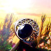 """Украшения ручной работы. Ярмарка Мастеров - ручная работа """"Хельга"""" мадагаскарский сапфир, ажурное серебро 925. Handmade."""