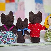 Куклы и игрушки ручной работы. Ярмарка Мастеров - ручная работа Пальчиковый театр. Три медведя и Машенька.. Handmade.