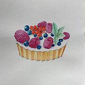 Картины и панно ручной работы. Ярмарка Мастеров - ручная работа Пирожное. Handmade.