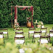 Свадебный салон ручной работы. Ярмарка Мастеров - ручная работа Выездная церемония (в цвете бордо). Handmade.